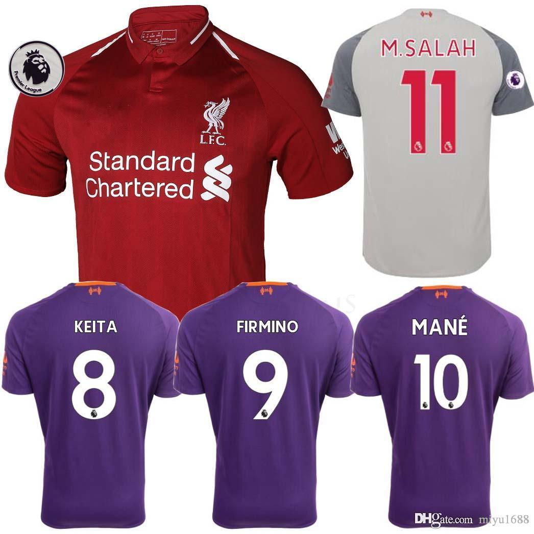 d24c1e4a ... new arrivals thailand mohamed salah soccer jersey 2018 2019 van dijk  virgil keita shaqiri football kit