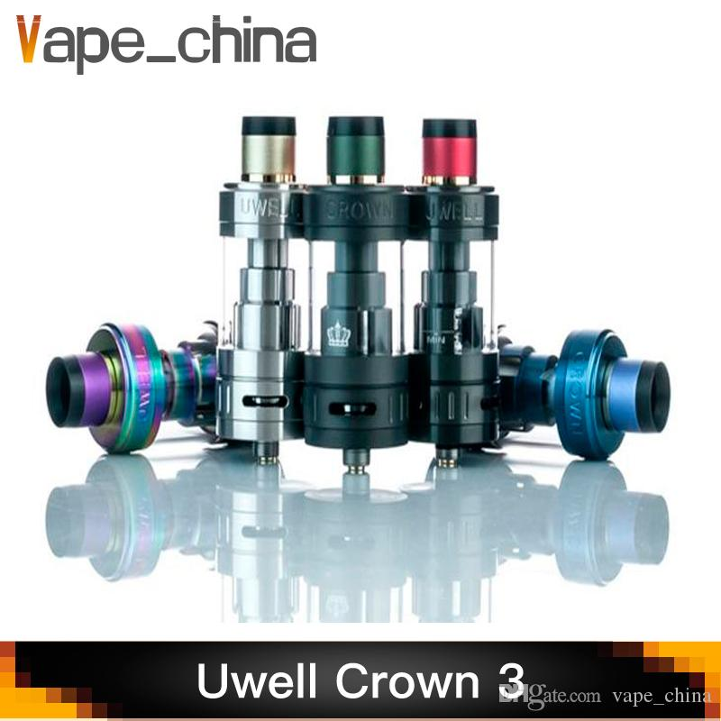 Uwell Crown 3 Tank with 5 0ml e-Juice Capacity with Top Filling Large  Clouds Crown III Coil Head