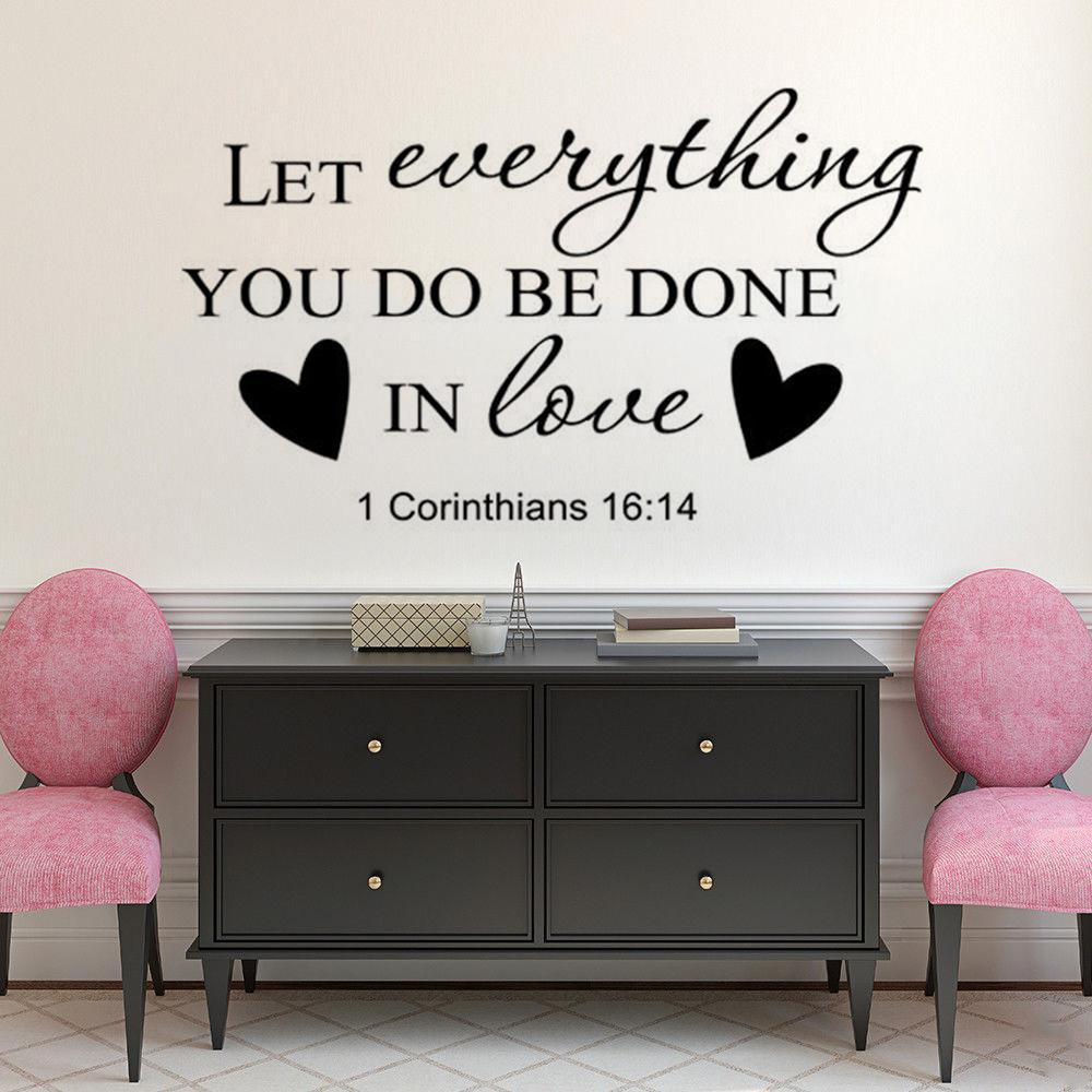 Religious Home Decor Bible Verse Wall Stickers Christian