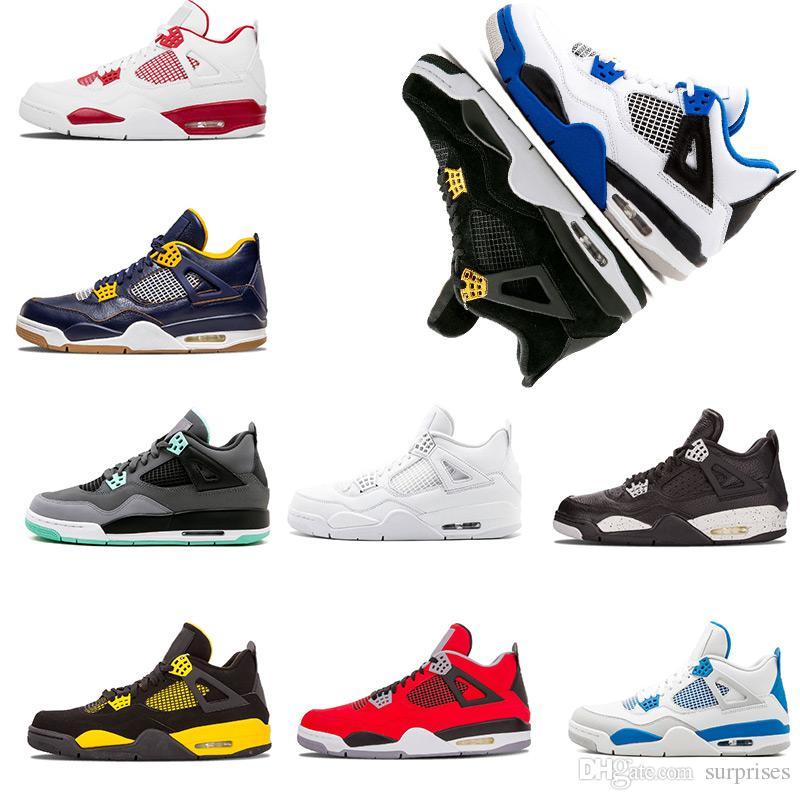 55f990c731ce17 New Basketball Shoes 4 4s Oreo Military Blue Black Cat Toro Bravo ...