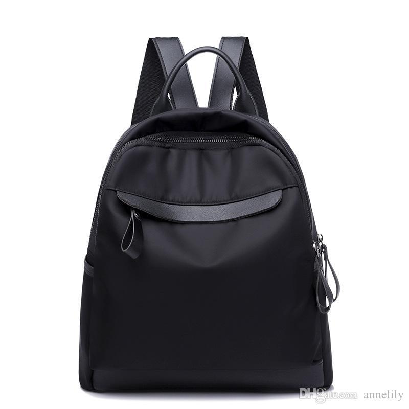 2018 Oxford Cloth Black Minimalism Best Backpack For Adolescent Girl Female  New Travel Leisure Women Backpack Shoulder Bag Rucksack Backpack Boys  Backpacks ... a915e782d3d18
