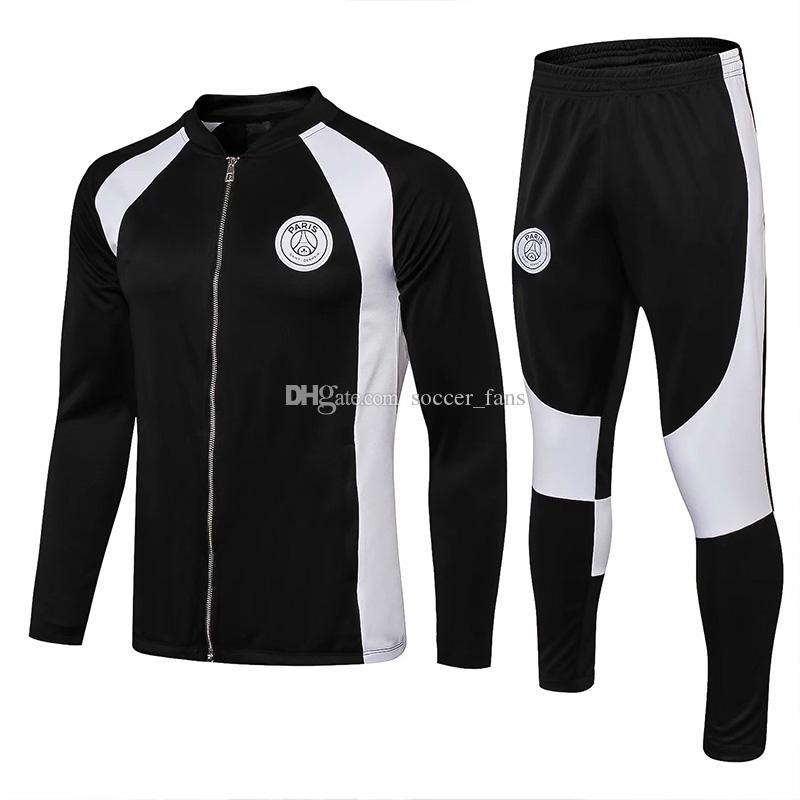 2018 19 Paris Black Sportswear Training Suit Mbappe PSG CAVANI ... aa96b5ced