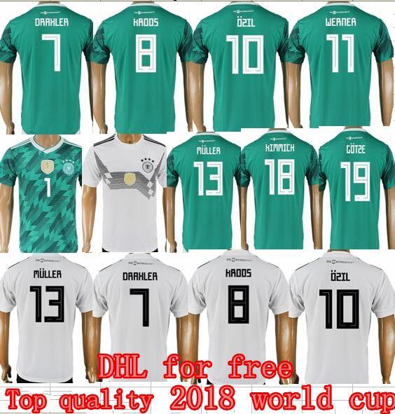 0484ce2c7 Germany 2018 World Cup Soccer Jersey 10 OZIL 13 MULLER 8 KROOS 7 DRAXLER  Football Shirt Home Alemania HUMMELS WERNER KROOS GOTZE Uniforms Soccer  Jerseys ...
