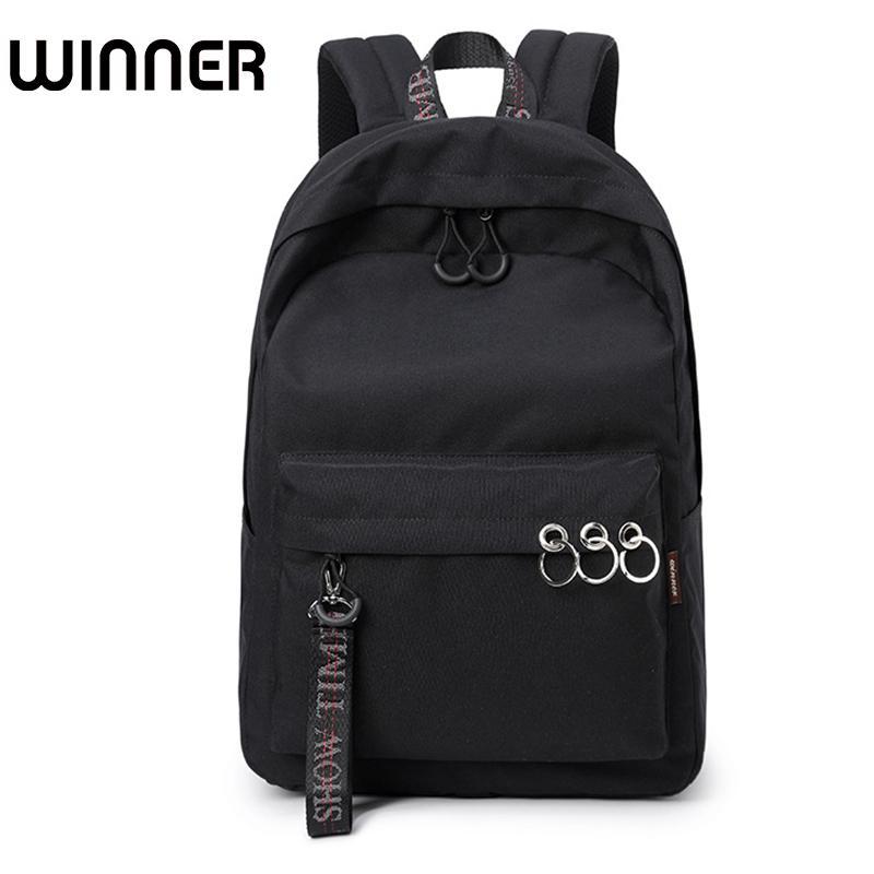66989c0f44ae Waterproof Women Backpack Black And Pink Travel Bookbag Lady Back Bag  KeyChain Knapsack College School Bag For Girls Y18110201 Backpacks For Men  Jansport ...