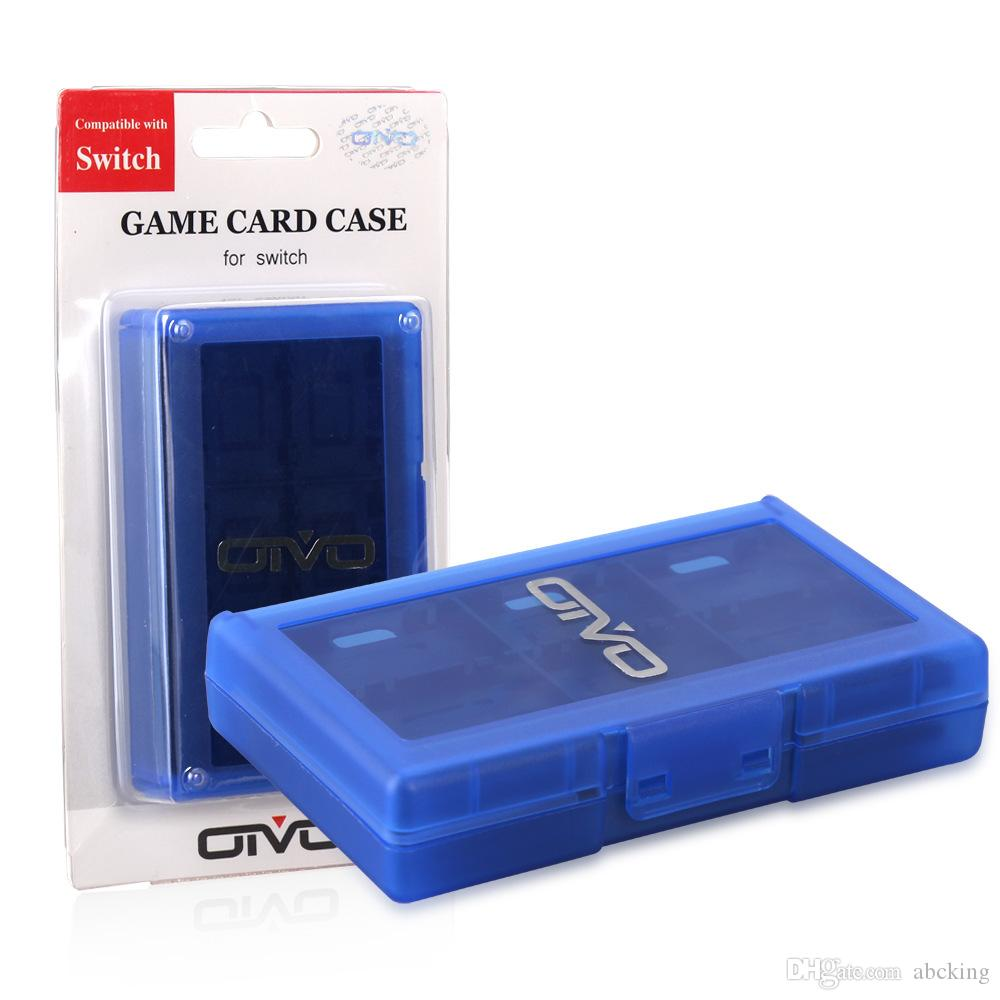 Portable Protective Box 24 Slots Game Card Hard Cartridge Case for Switch NS NX Game cards