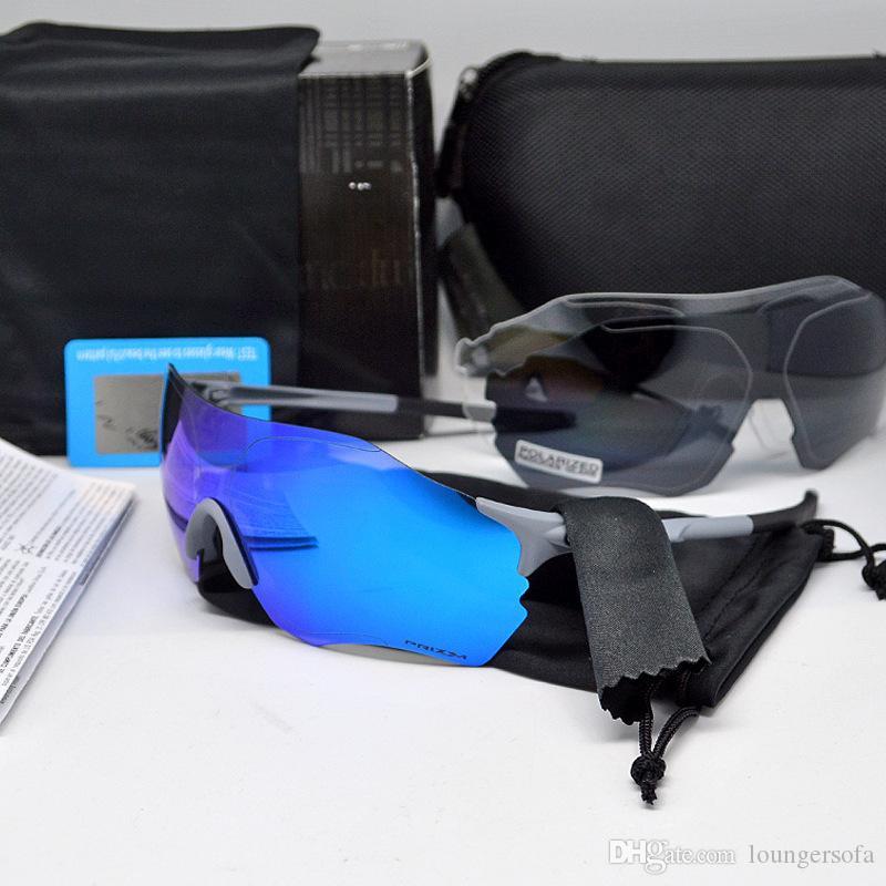 EV SıFıR Hareket Gözlükler Bisiklet Polarize Sürme Koruyucu Gözlük Açık Moda Üç Lens Unisex Gözlük Sıcak Satış 58td WW