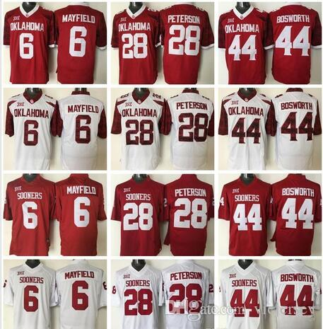 e2c95fda16b Youth Baker Mayfield 6 Adrian Brian Bosworth 44 Peterson 28 Red ...