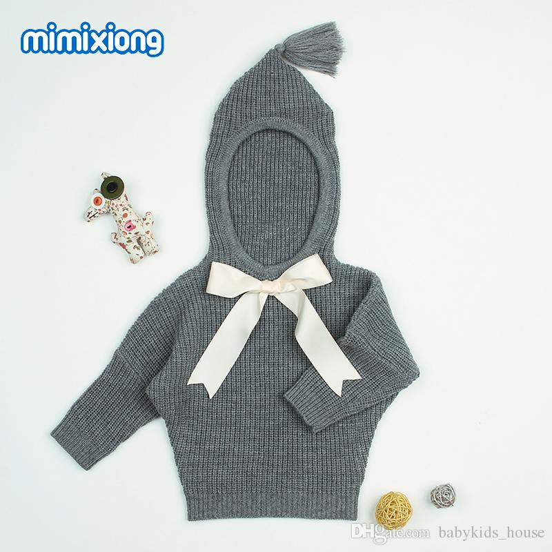 Grey Hooded Designer Sweater For Toddler Girl Autumn Newborn Baby ...