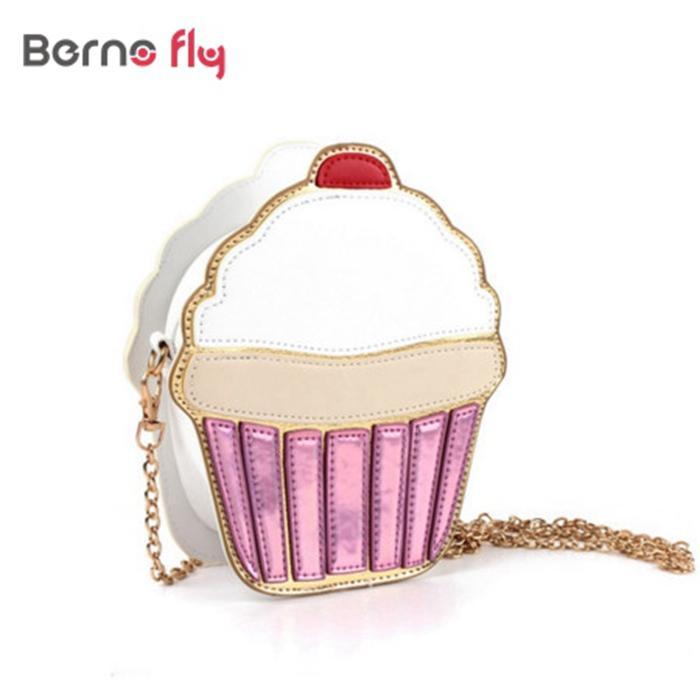 0e8bd064a6be New women Clutch Crossbody Bag Fashion Lady Shoulder Bag Girl Cupcake Small  Cute Purse Mini Ice Cream /Cake Pattern Design