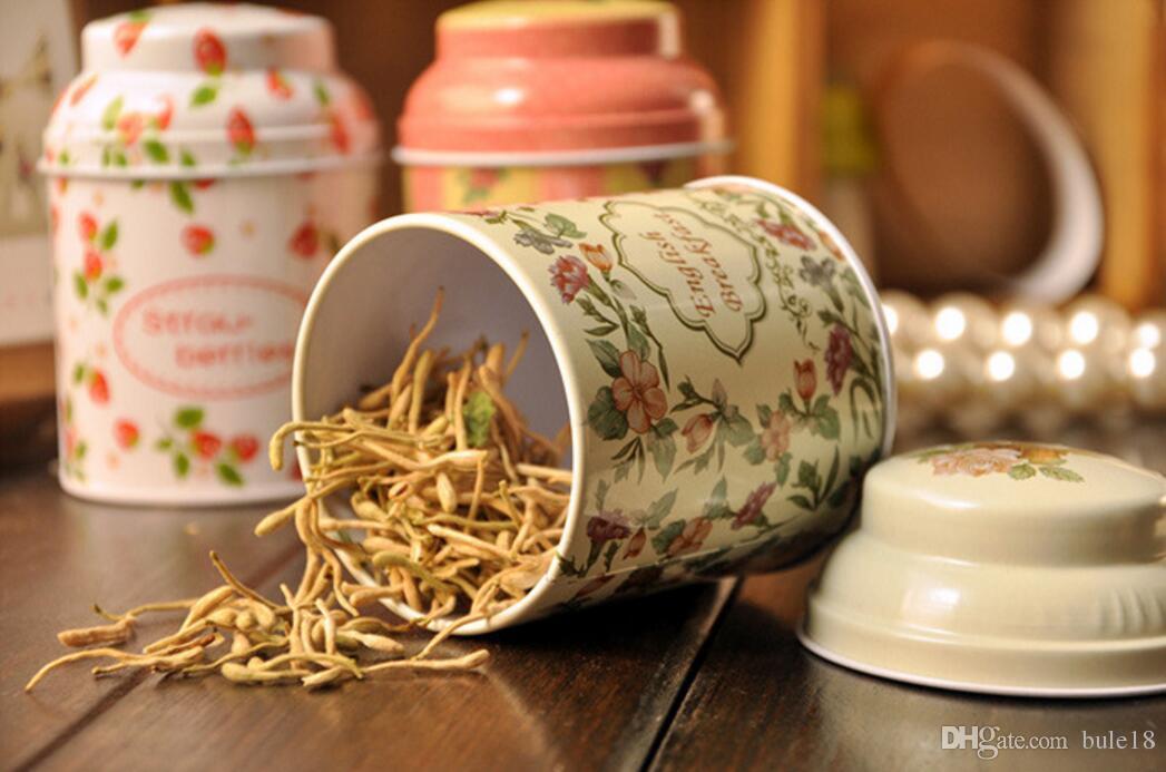 Vintage style flower series tea box tin box storage case organizer Iron case storage container T5437