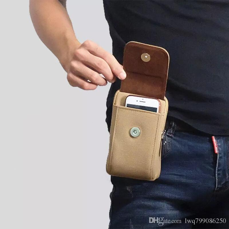 Mobile phone hanging Fanny pack wearing belt belt leather cover shell universal multi-function small hanging bag multi-function