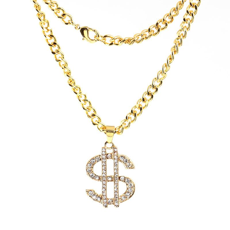 b1e86c3a994 Wholesale Hip Hop Jewelry US Dollar Money Pendant Necklace Men Collier  Luxury Gold Color Chain Jewelry Women Accessories Iced Out Chains Necklaces  Diamond ...
