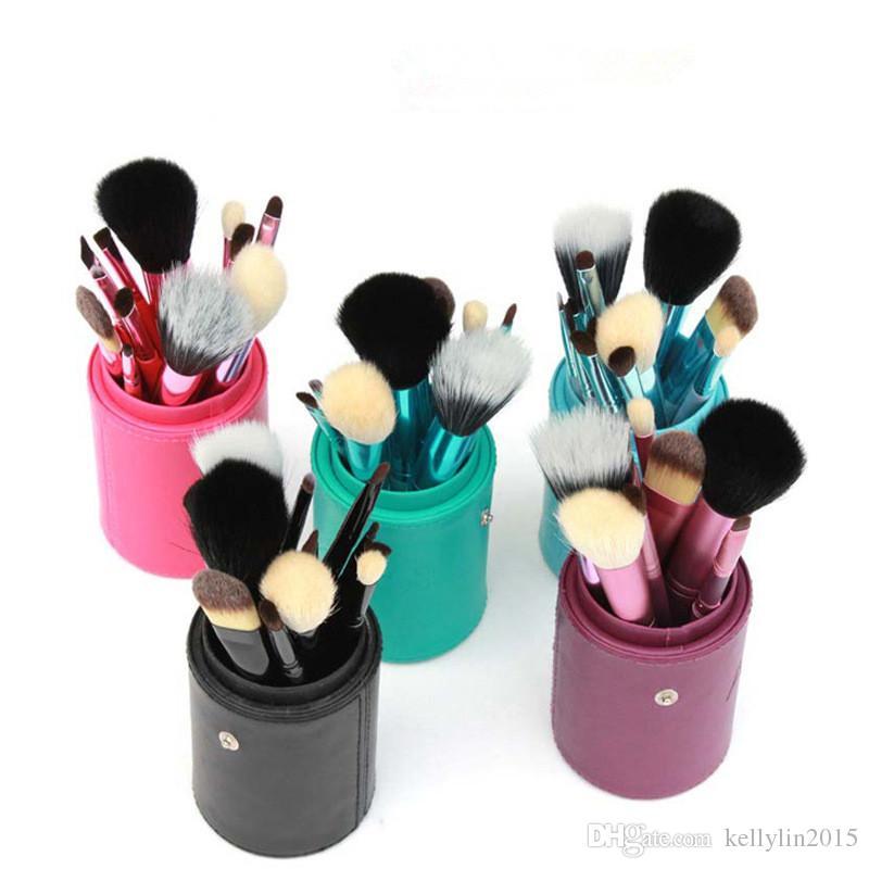 메이크업 브러쉬 컵 홀더 염소 머리 전문 실린더 케이스 화장품 도구 눈 재단 메이크업 브러쉬 키트