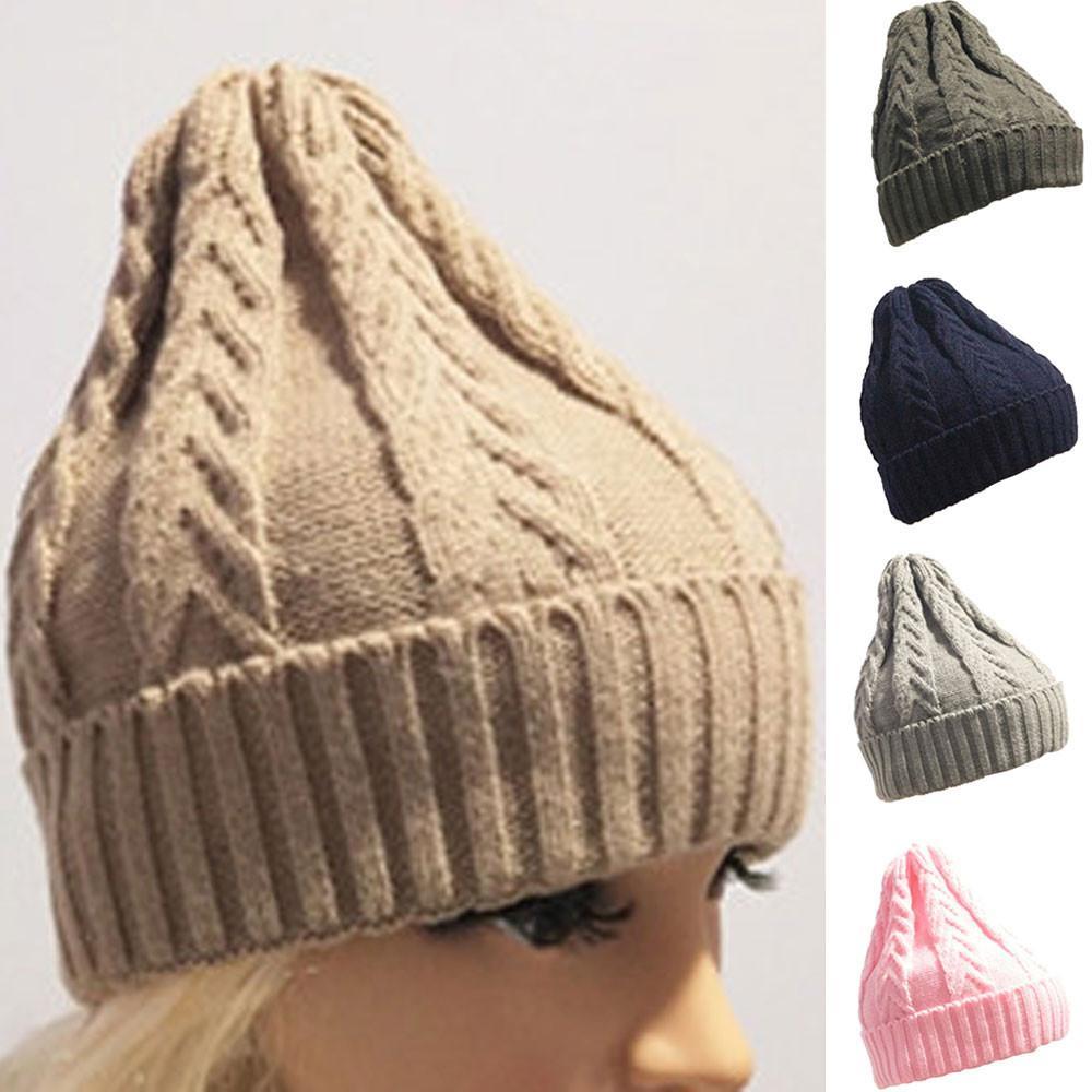 2e8a4b233cc New Men Women Winter Hat Baggy Warm Crochet Winter Wool Knit Ski Beanie  Skull Slouchy Caps Hat Beanie Hats for Women  TH Skullies   Beanies Cheap  Skullies ...