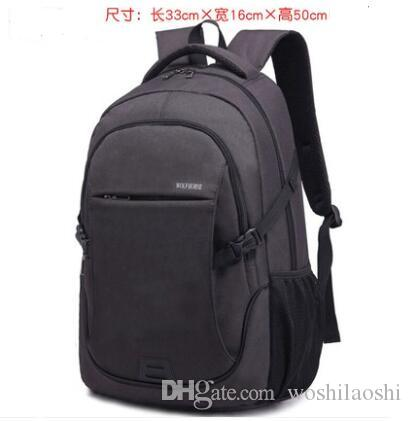 35fb9814cdcb Backpack male backpack female Korean version of the tide high school  student bag large capacity leisure travel bag business men s computer