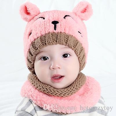 knitting chochet wool hats boys and girls plus thick warm winter suits cashmere earmuffs Korean version cap