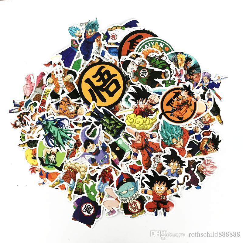 100 pcs/pack Mixed Dragon Ball Anime Sticker For Car Laptop Skateboard Pad Bicycle Motorcycle PS4 Phone Decal Pvc Stickers