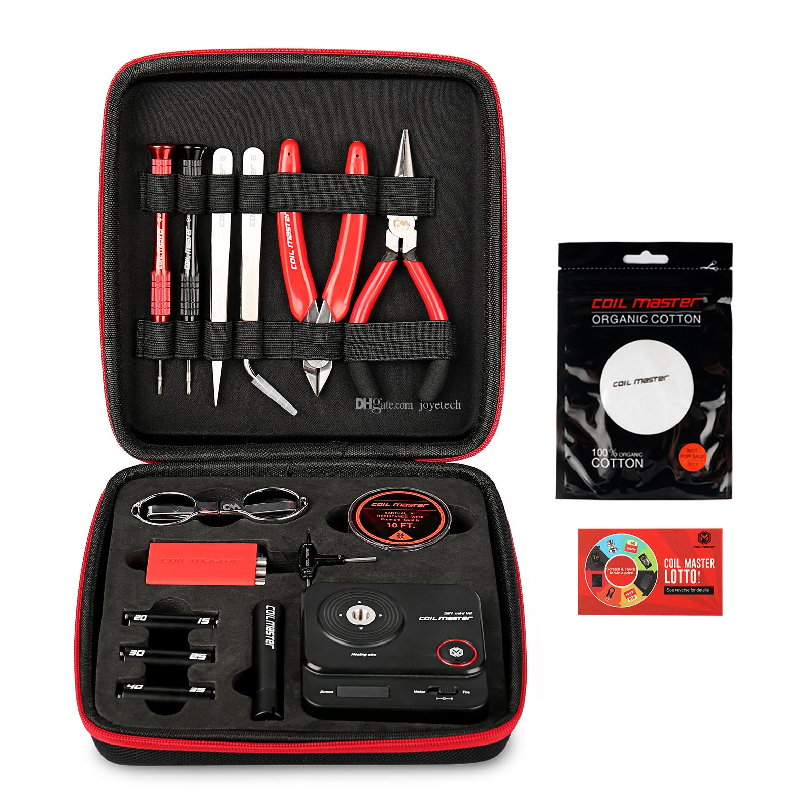 100% Original Coil Master DIY KIT V3 2018NEWEST con 521 Mini Tab 2.0 Coiling Kit V4 Pinzas de cerámica Wire Cutter - All CoilMaster Instock