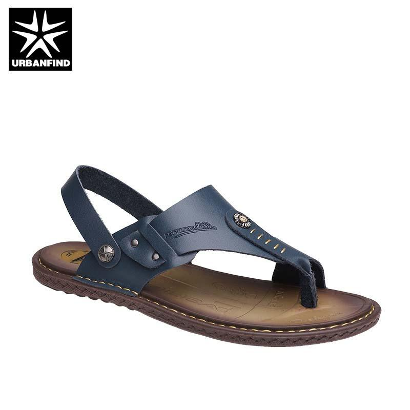 1e9ee440499d 2018 Summer Sandals Men Outdoor Breathable Slippers Leather Men ...