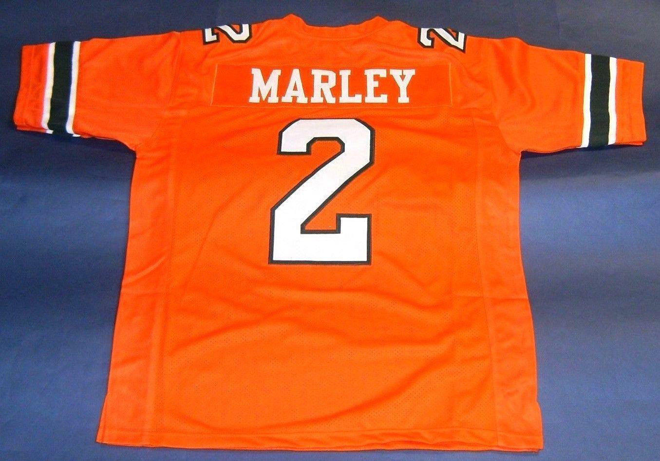 efaa6fbfe ... release date orange nike college football jersey classic styles ae5e0  edbaf cheap 2 rohan marley custom sweden jim kelly autographed miami  hurricanes ...