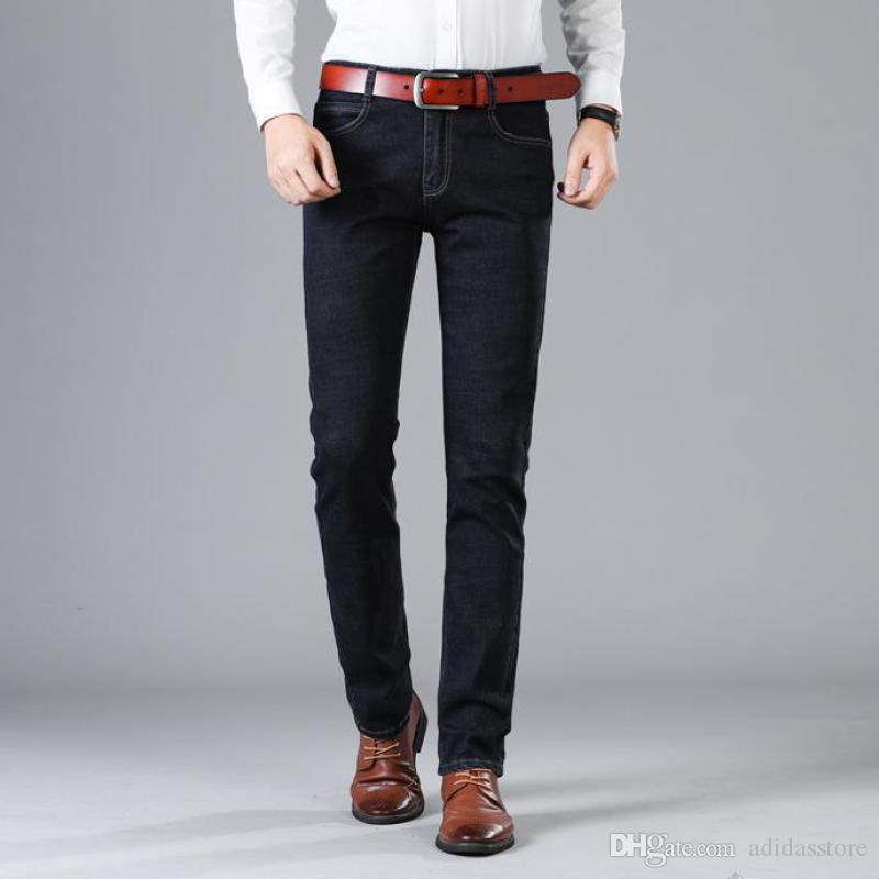 Acquista 2019 Jeans Da Uomo Nuovi Di Zecca Moda Slim Harem Jeans Elastici  Maschio Casual Pantaloni Neri Jeans Uomo Taglie 42 A  33.51 Dal Adidasstore  ... 86091ec2b48