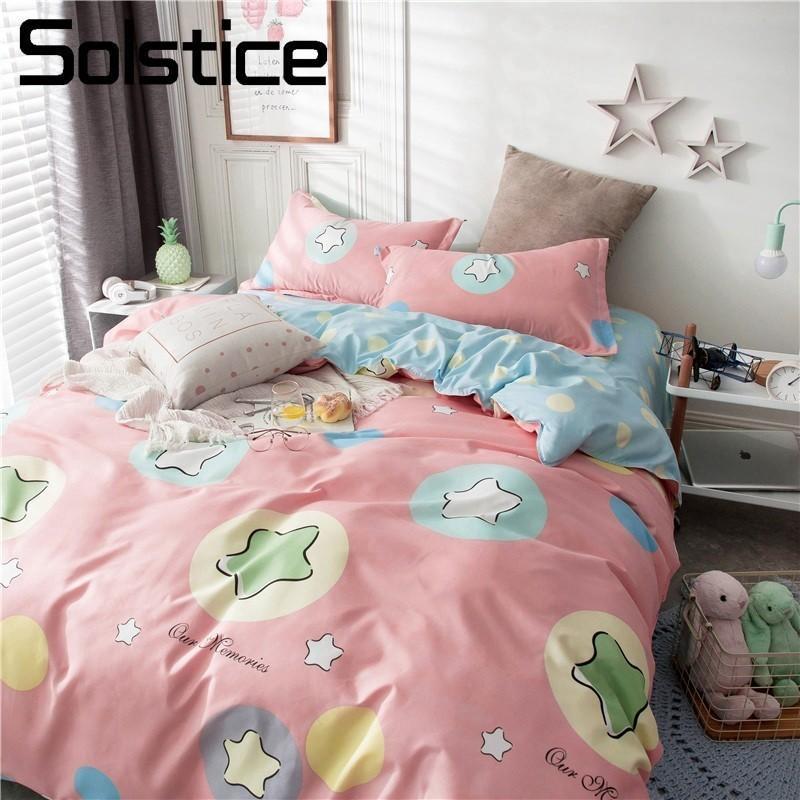 Lenzuola Letto Singolo Bambino.Acquista Solstice Home Textile Set Biancheria Da Letto Pink Star