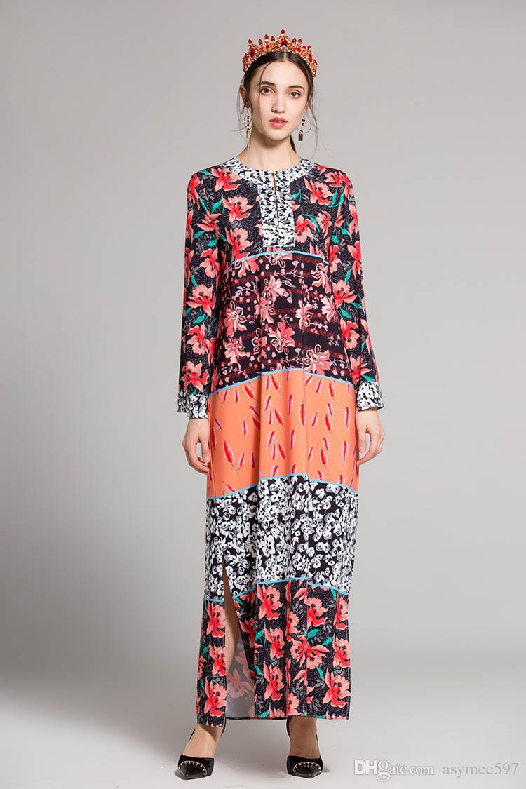faa31e676 Compre 2018 Moda Elegante Vestidos De Impresión De Primavera Y Verano