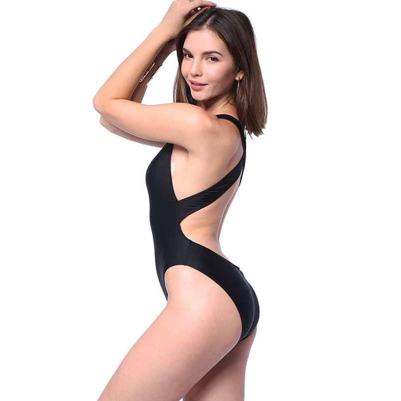 Sexy One piece Swimwear Women Bikinis Girls Summer Swimsuit 2018 Mesh Solid Patchwork Swim Suit Push Up Bathing Suit