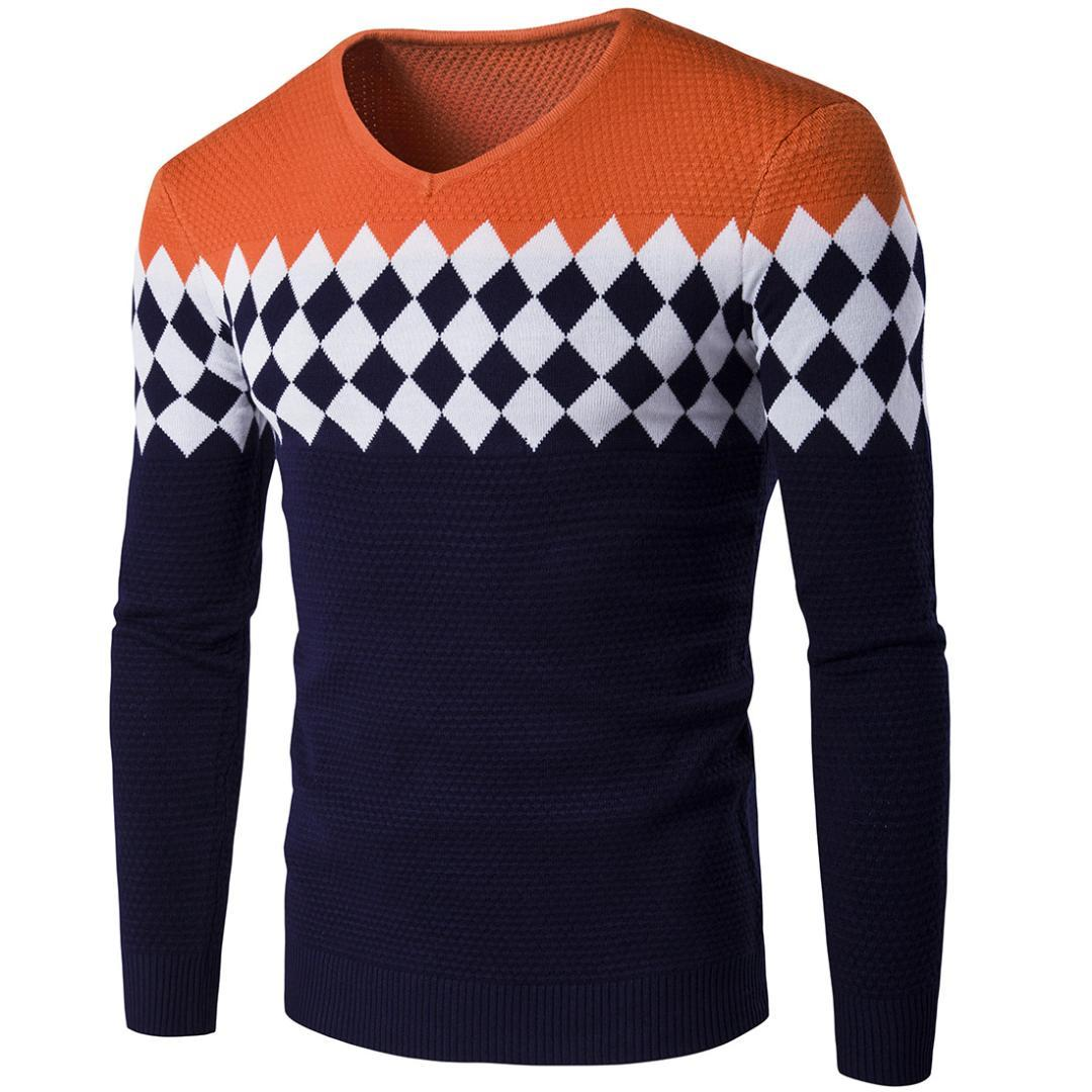 3cab63e9d907 Großhandel Plaid Mens Pullover 2017 Neue Marke Herbst Langarm Strickmuster  Herren Pullover Von Piaose,  27.49 Auf De.Dhgate.Com   Dhgate