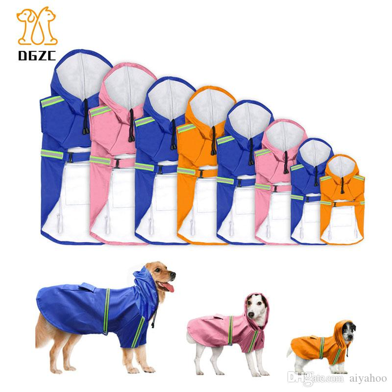 Pet Clothing Dog Clothes Dog Raincoat Apparel Waterproof Jacket With Hood High Quality For Small Medium Large Dogs Pet Products Dog Raincoats