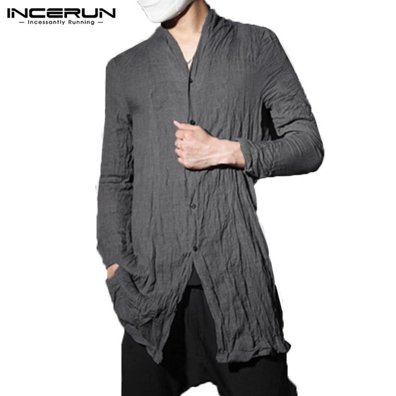 Hombre Kimono Incerun Camisas Estilo Largas Para Japón Camisa Compre 1Z4xpqwUx