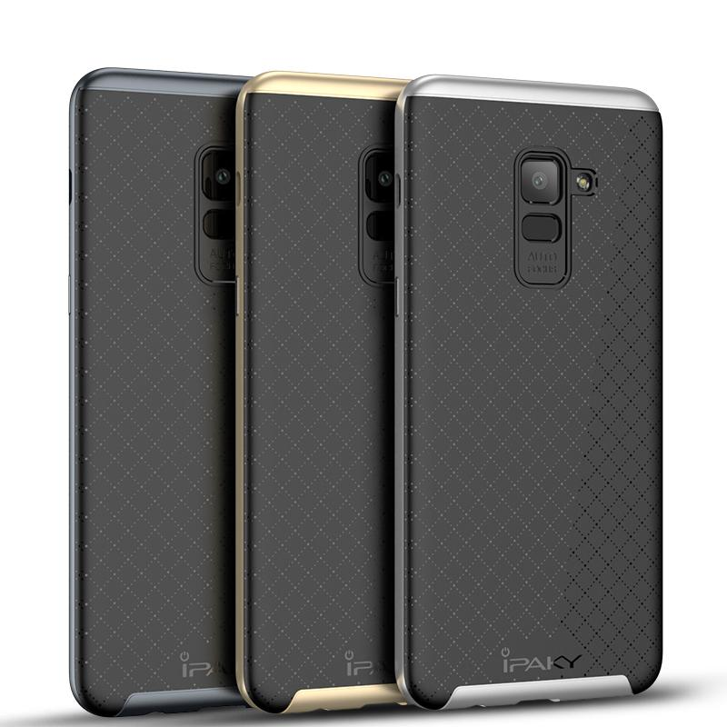 sports shoes 51eca d170e Original iPaky For Samsung Galaxy A8 2018 Case Hybrid Silicone Back Cover  PC Frame Phone Cases For Samsung A8 Plus 2018