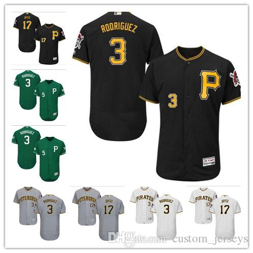 1aa642cc6a0 Custom Men Women Youth Pirates Jersey  3 Sean Rodriguez 17 Matt Joyce Home Black  Yellow Grey White Kids Girls Baseball Jerseys Pittsburgh Pirates Jersey ...