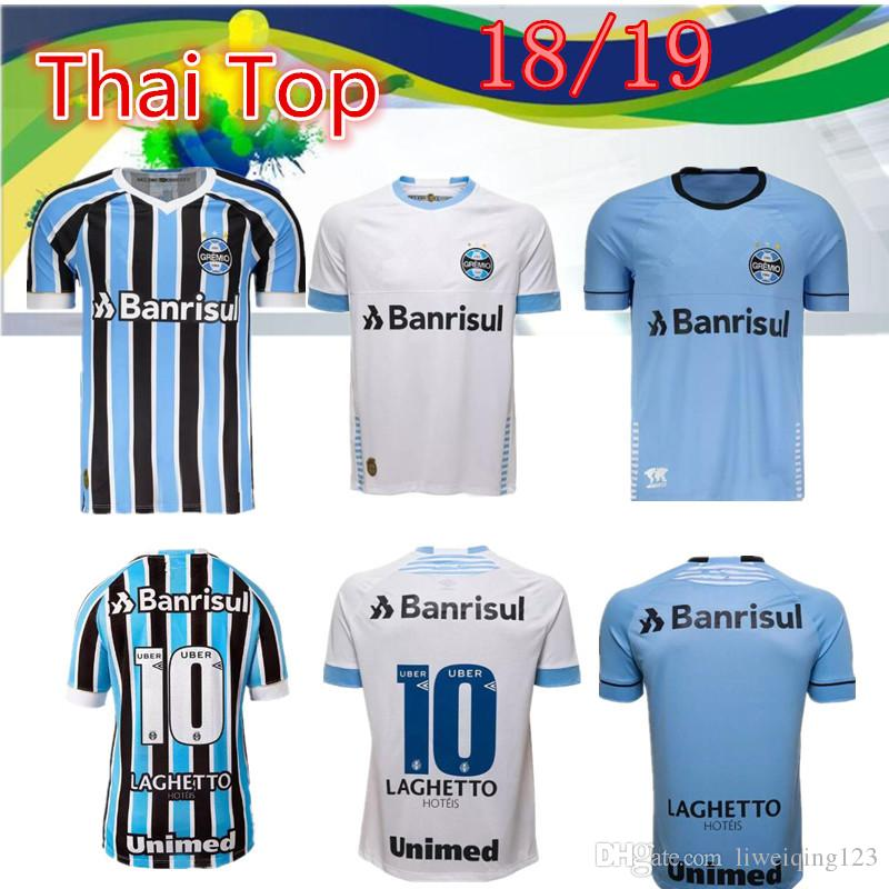 b86bb74ddec Top Thai Version 18 19 Best Quality Gremio Home Away Third Soccer ...