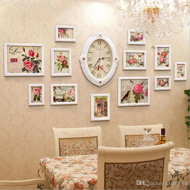 2019 Combination Set Wall Photo Frames For Pictures Vintage White