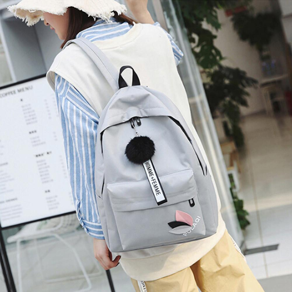 MOLAVE Backpacks New High Quality Fashion Neutral Hairball Shoulder Canvas  School Backpack Girls Boy Backpack Women Mar26 Gregory Backpacks Army  Backpack ... e5267db0f8