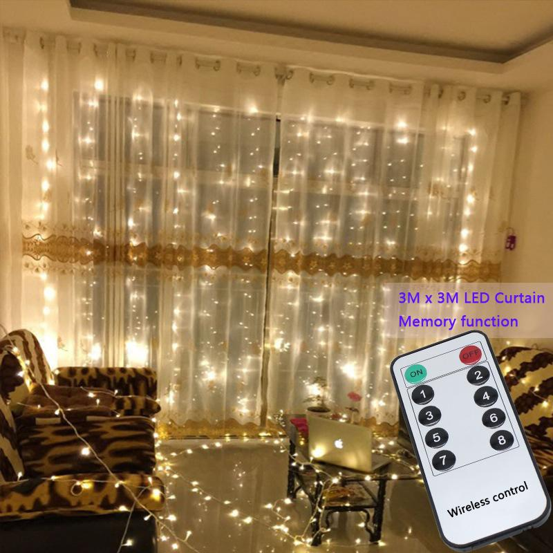 3x3 mt 304 led string lichterketten Hochzeit garten party led vorhang Decor Weihnachtsgirlanden vorhang lichterkette led lichter Dekoration