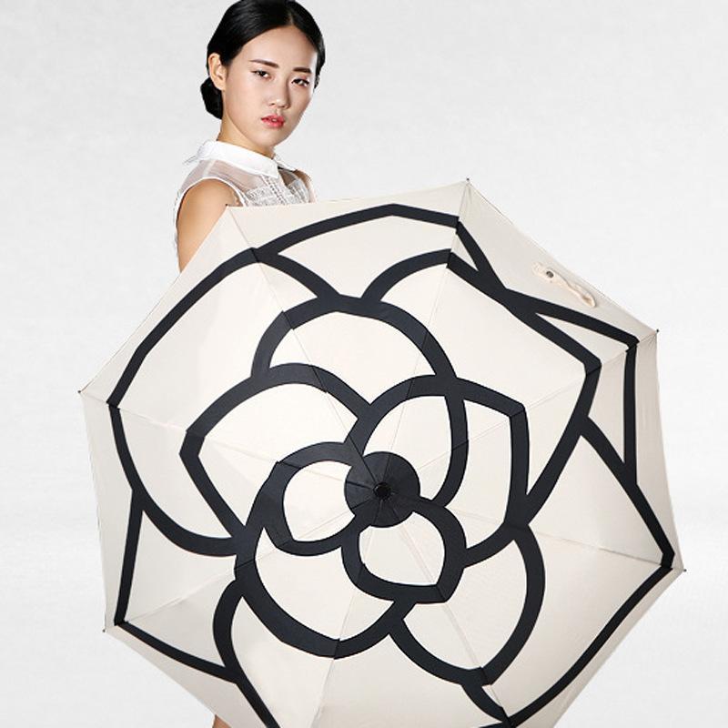 b1cd9dbac 2019 Fashion Women 3 Fold Umbrella Automatic Camellia Flower Parasol  Sunshade Rain UV Sun Umbrella For Men & Women Blooming Camellia From  China_smoke, ...