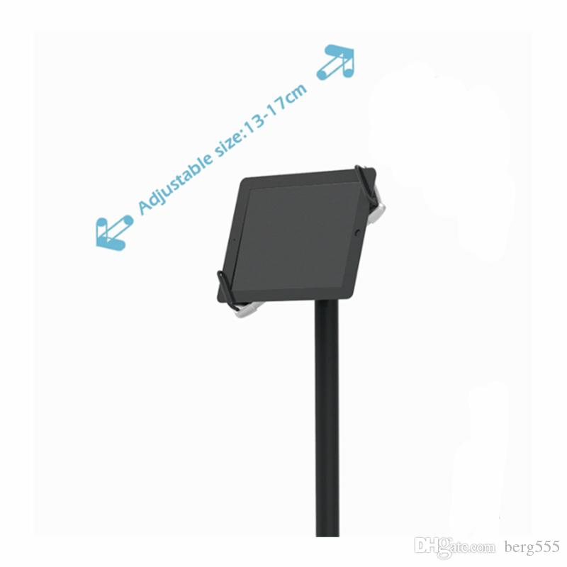 iPad Floor Stand iPad Holder Portable Store iPad Stand Reception or Menu Board with Aluminum Pole and Steel Base E06P19