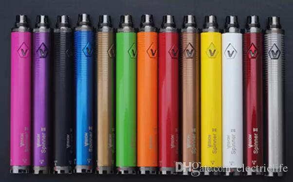 Vision spinner II 1650mAh Ego twist 3.3 4.8V vision spinner 2 variable voltage battery for Electronic cigarettes DHL