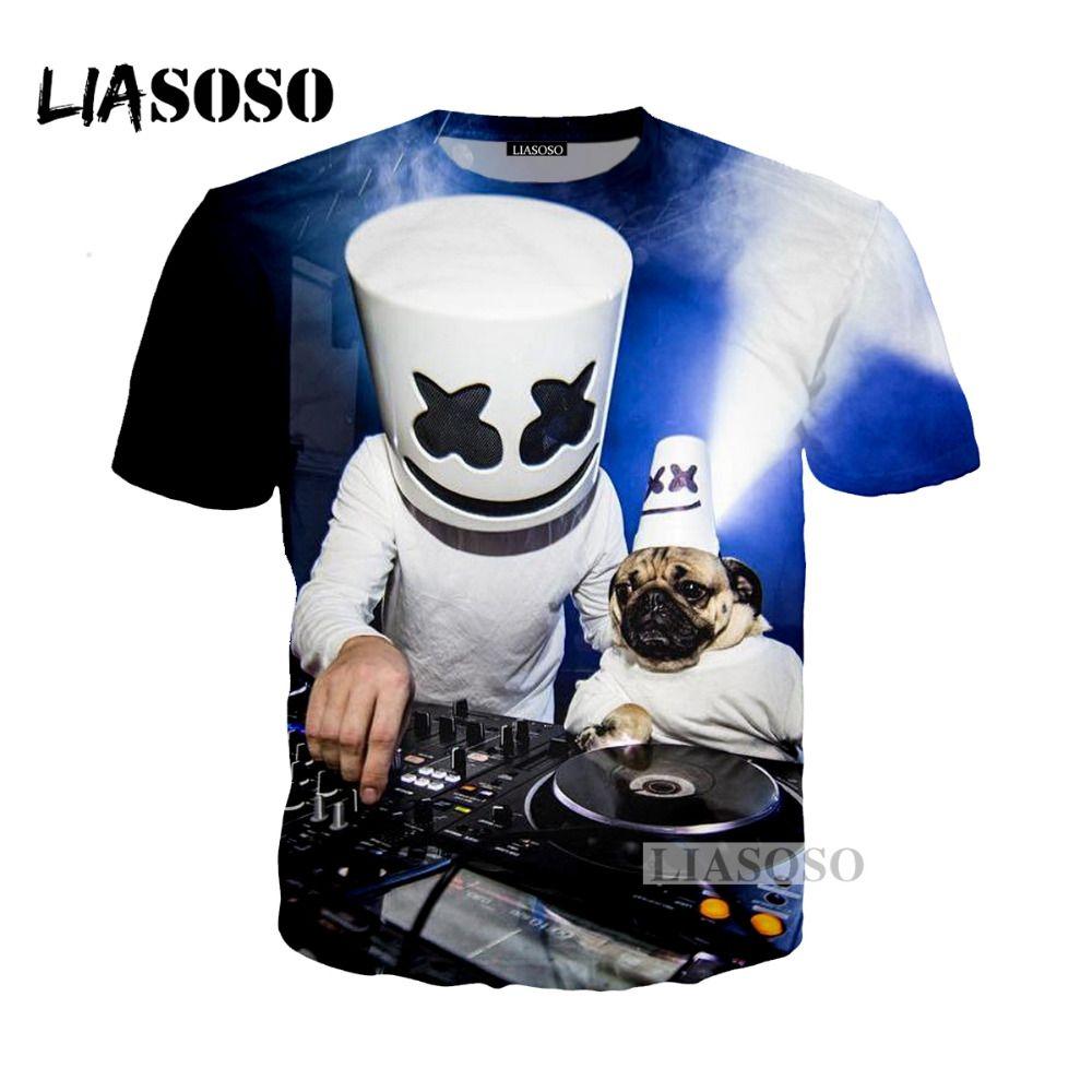compre liasoso 2018 harajuku hip hop dj cantor marshmello 3d