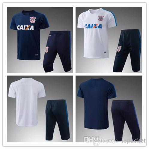 Corinthian Gilchmei Paulista Soccer Jerseys 17 18 Thai Quality Brazilian  Training Suit Short Paragraph Football Jersey Shirts Corinthian Gilchmei  Online ... c60348b2b