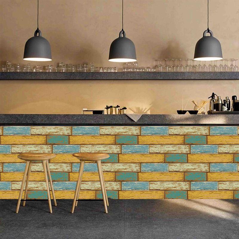 europe 3d wood grain wall sticker self adhesive wallpaper waterproof