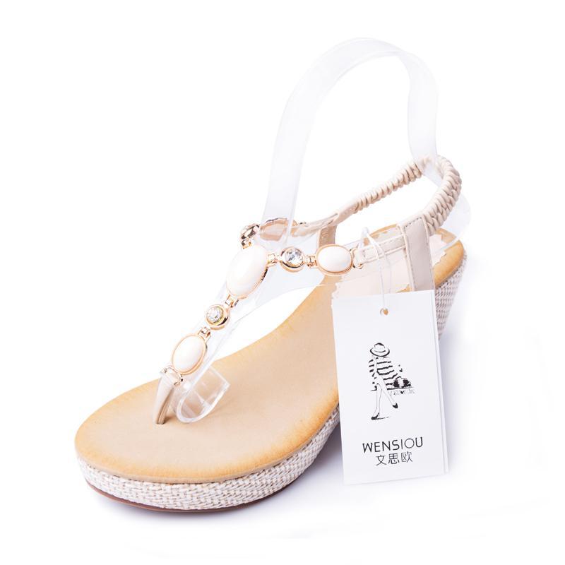 b9ef5bd7d Summer Women Sandals Gladiator Bohemia High Platform Wedges Beach Sandal  Flip Flops Casual Shoes Sandals Women 2017 BT533 Flat Sandals Strappy  Sandals From ...