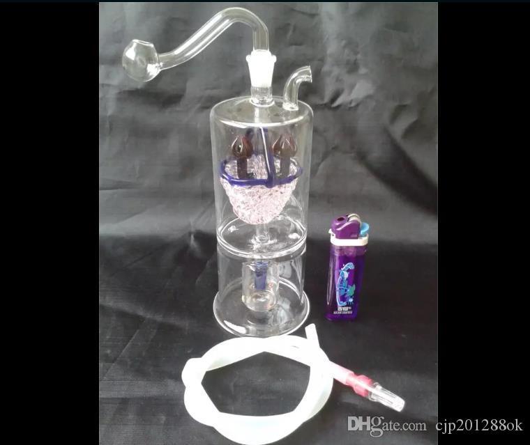 Canasta filtro vidrio mudo narguile Comercio al por mayor bongs de vidrio Quemador de aceite Pipas de agua de vidrio Plataformas petroleras sin fumar