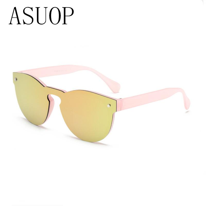 73413d17ebd ASUOPNew Fashion Cat Eye Sunglasses Women White Frame Gradient Sun ...