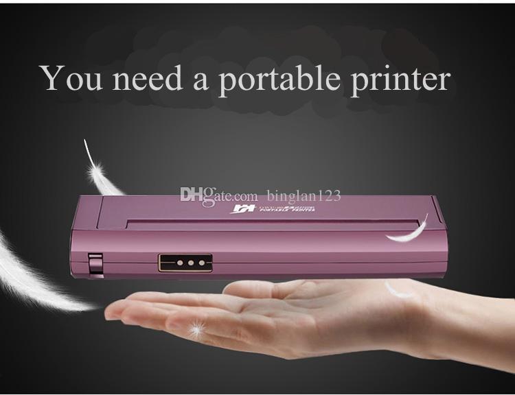 Impresora térmica A4 Impresora de tatuaje Portátil Mini Transferencia térmica No hay necesidad de cartuchos de tinta Interfaz USB