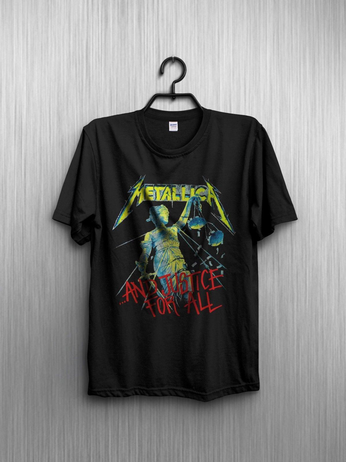 fa93d54d Vintage T Shirt 1988 Metallica And Justice For All Tour Reprint Funny  Unisex Casual Tee Gift Tees Shirts T Shirt Site From Noveltgifts, $12.96|  DHgate.Com