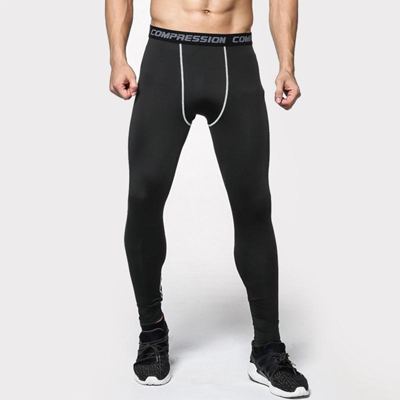 f712858660aa4 2019 2017 New Mens Compression Pants Crossfit Tights Men Bodybuilding Pants  Trousers Joggers Running Fitting Yoga Cycling With Stripe From Sunnystars,  ...