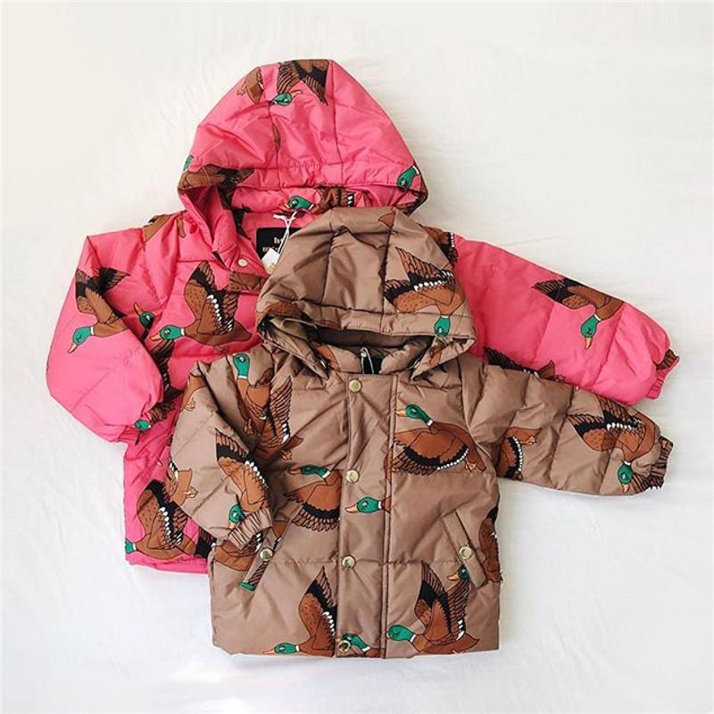 Pre Sale Bobozone Ducks Puffer Jacket Brown And Red For Kids Winter ...